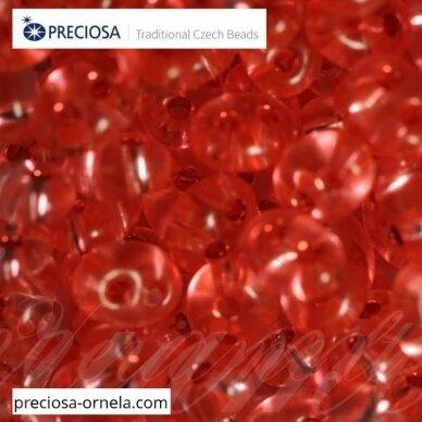 PCCB321/96001/78191-2.5 x 3 x 5 mm, twin forma, skaidrus, blizgūs, viduriukas, rausva spalva, apie 20 g.