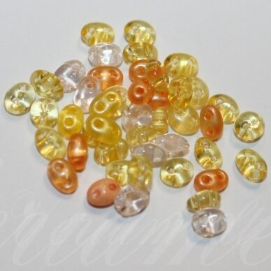PCCB321/96001/MIX37-2.5 x 3 x 5 mm, twin forma, geltona spalva, MIX, apie 20 g.