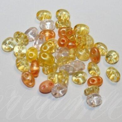 PCCB321/96001/mix37-2.5 x 3 x 5 mm, twin forma, geltona spalva, mišinys, apie 20 g.