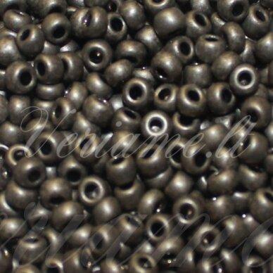 pccb331/39001/18549-06/0 3.7 - 4.3 mm, apvali forma, matinė, tamsi, pilka spalva, apie 50 g.