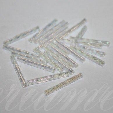pccb351/30001/58135-15 15 x 2 mm, pailga forma, skaidrus, ab danga, apie 50 g. / x 3 pakeliai = apie 150 g.