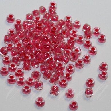 PCCB38698-06/0 3.7 - 4.3 mm, apvali forma, skaidrus, viduriukas rožinė spalva, apie 50 g.