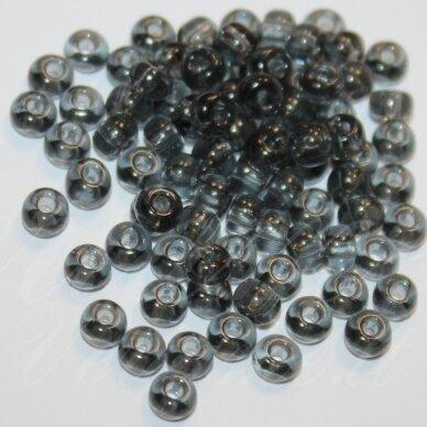 PCCB40010-06/0 3.7 - 4.3 mm, apvali forma, skaidrus, juoda spalva, apie 50 g.