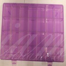 PD0015 apie 345 x 215 x 46 mm, plastikinė dėžutė, reguliuojami skyreliai, 1 vnt.