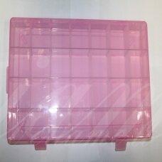 PD0017 apie 345 x 215 x 46 mm, plastikinė dėžutė su reguliuojamais skyreliais, 1 vnt.