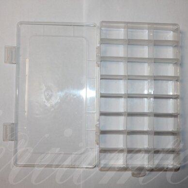 pd0016 apie 195 x 130 x 35 mm, plastikinė dėžutė, reguliuojami skyreliai, 1 vnt.