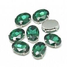 pja4m15-oval-06x8 apie 6 x 8 mm, 4 skylių, metalo spalva metalinis pagrindas, ovalo forma, rožinė spalva, prisiuvama juvelyrinė akutė, 4 vnt.