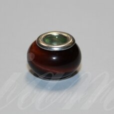 pka0487 apie 10 x 15 mm, jaučio akis, pandoros karoliukas, 1 vnt.