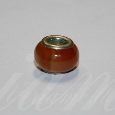 pka0488 about 10 x 15 mm, agate, pandora bead, 1 pc.
