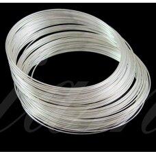 pkit0023 apie 110 mm, 1 mm storis, sidabrinė spalva, viela su atmintimi, 4 gijos.