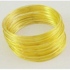 PKIT0021 apie 55 mm skersmuo 0.6 mm storis, šviesi aukso spalva, viela su atmintimi, 8 gijos.