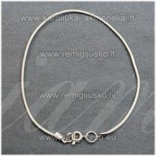 PKIT0118 apie 1 x 520 mm, balta spalva, odinė virvutė su užsegimu, 1 vnt.