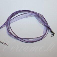PKIT0168 apie 43 cm,  violetinė spalva, organzos ir medvilninio siūlo ruošinys vėriniui, 1 vnt.