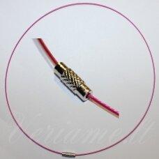 PKIT0174 ilgis 45 cm, rožinė spalva, troselis su užsegimu, 1 vnt.
