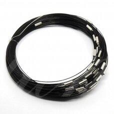 pkit0200 apie 45 cm, juoda spalva, troselis su užsegimu, 1 vnt.