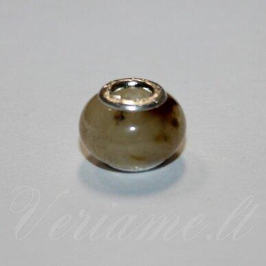 pka0490 apie 10 x 15 mm, kvarcas, pandoros karoliukas, 1 vnt.