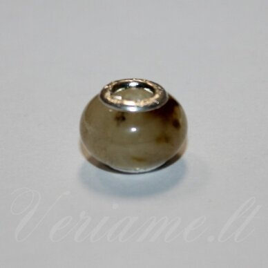 PKA0490apie 10 x 15 mm, kvarcas, pandoros karoliukas, 1 vnt.