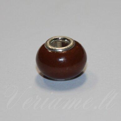 pka0491apie 10 x 15 mm, jaspis, pandoros karoliukas, 1 vnt.