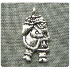 PM0023 apie 22 x 12 mm, metalinis pakabukas, kalėdų senelis, 1 vnt.