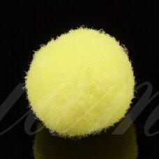 pom0001 apie 25 mm, pom pom, poliesteris, geltona spalva, 16 vnt.