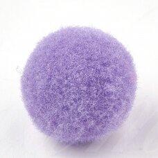 pom0006 apie 25 mm, pom pom, poliesteris, šviesi violetinė spalva, 16 vnt.