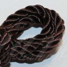 ppv0002 apie 4 mm, tamsi, ruda spalva, pinta virvutė, 5 m.