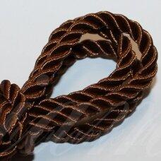 ppv0003 apie 6 mm, ruda spalva, pinta virvutė, 2.5 m.