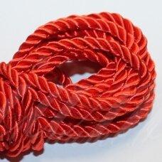ppv0004 apie 4 mm, raudona spalva, pinta virvutė, 5 m.