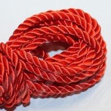 ppv0004 apie 6 mm, raudona spalva, pinta virvutė, 2.5 m.