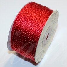 ppv0008 apie 3 mm, raudona spalva, pinta virvutė, apie 25 m.