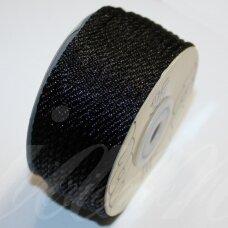 ppv0010 apie 3 mm, juoda spalva, pinta virvutė, apie 25 m.