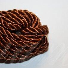 ppv0014 apie 4 mm, ruda spalva, sukta virvutė, 2.5 m.