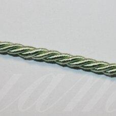 ppvgel0025 apie 3 mm, šviesi, salotinė spalva, sukta virvutė, 1 m.