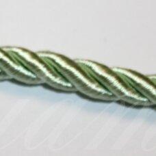 ppvgel0025 apie 5 mm, šviesi, salotinė spalva, sukta virvutė, 1 m.