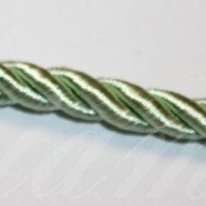 ppvgel0025 apie 6 mm, šviesi, salotinė spalva, sukta virvutė, 1 m.