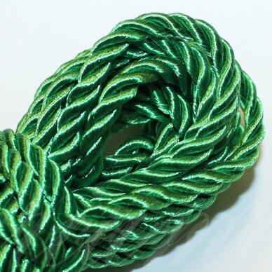 ppv0005 apie 4 mm, žalia spalva, pinta virvutė, 5 m.