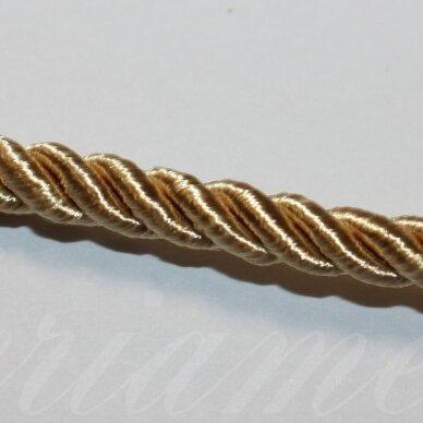 PPVGEL0134 apie 5 mm, auksinė spalva, sukta virvutė, 1 m.