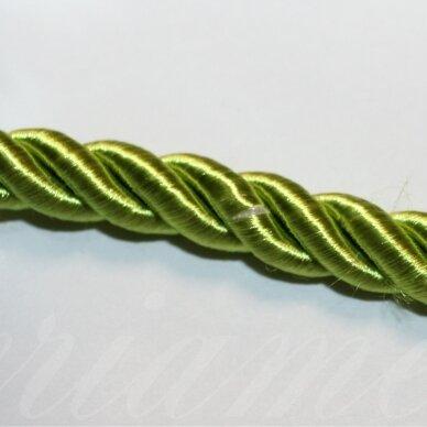 ppvgel0539 apie 8 mm, ryški, salotinė spalva, sukta virvutė, 1 m.