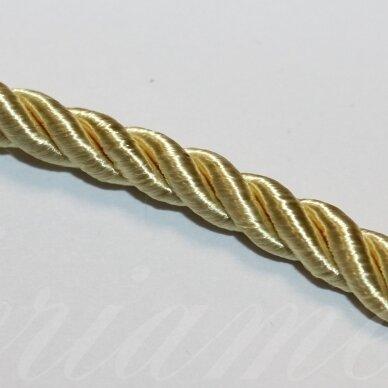 PPVGEL0122 apie 5 mm, šviesi, geltona spalva, sukta virvutė, 1 m.