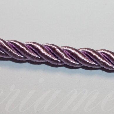 ppvgel0041 apie 6 mm, šviesi, alyvinė spalva, sukta virvutė, 1 m.