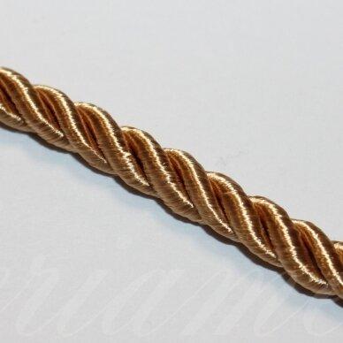 PPVGEL0156 apie 5 mm, auskinė spalva, sukta virvutė, 1 m.