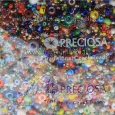 preciosa round shape, czech seed beads, mix, 200 g.