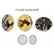 Preciosa Bead Bellatrix 12mm Crystal Aurum half (2 vnt)