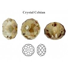 Preciosa Bead Bellatrix 6mm Crystal Celsian (6 vnt)