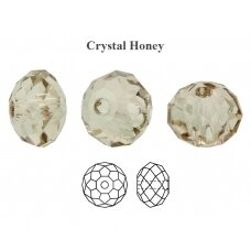 Preciosa Bead Bellatrix 6mm Crystal Honey (6 vnt)