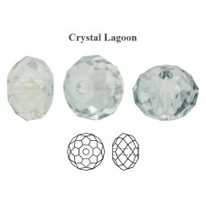 Preciosa Bead Bellatrix 6mm Crystal Lagoon (6 vnt)