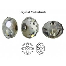 Preciosa Bead Bellatrix 6mm Crystal Valentinite (6 vnt)