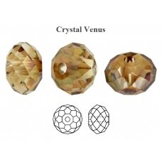 Preciosa Bead Bellatrix 6mm Crystal Venus (6 vnt)