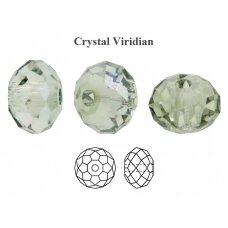 Preciosa Bead Bellatrix 6mm Crystal Viridian (6 vnt)