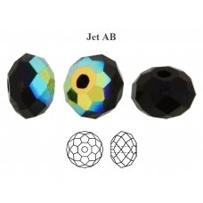 Preciosa Bead Bellatrix 6mm Jet AB (6 vnt)